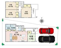【販売開始】尼崎市戸ノ内町新築戸建 2階建4LDKが販売開始となりました。の画像