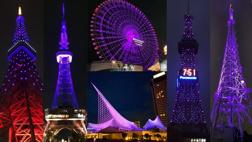 【紫するよ♪】日本国内6か所圧巻の紫にライトアップ!の画像