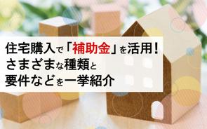 住宅購入で「補助金」を活用!さまざまな種類と要件などを一挙紹介の画像