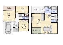 2階LDKの新築戸建♥の画像