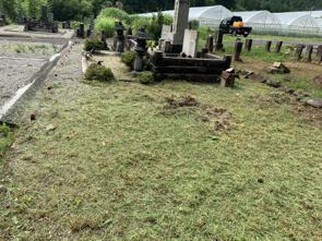 お墓の草刈りの画像