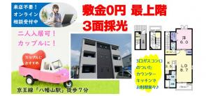 敷金0円★賃貸アパート1LDK★二人入居可の画像