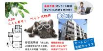 敷金0円★ペット可物件★二人入居可の1LDK賃貸マンションの画像