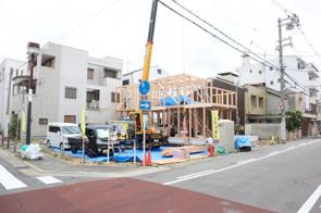 林寺4丁目 棟上工事の画像