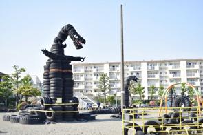 蒲田西六郷公園はタイヤ公園の異名をもつ有名スポットの画像