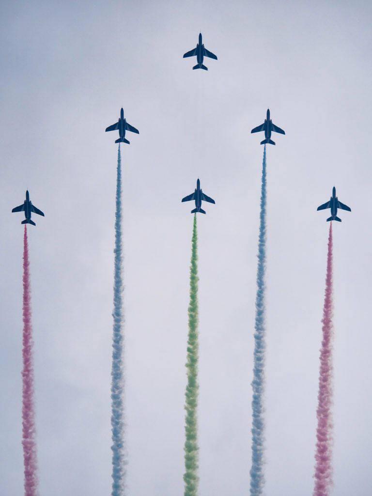 【ブルーインパルス】台東区 浅草の空から東京2020パラリンピック競技会への画像