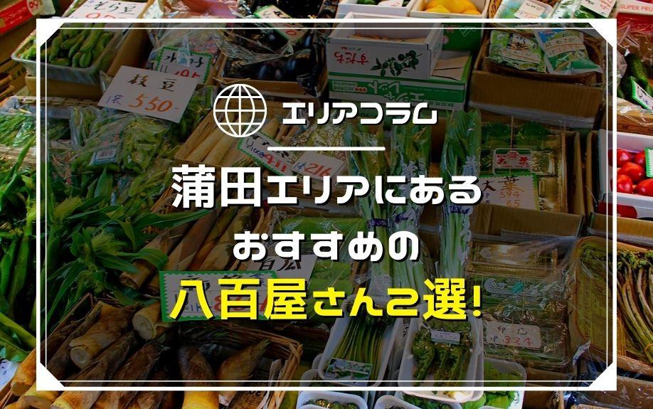 蒲田エリアにあるおすすめの八百屋さん2選!の画像