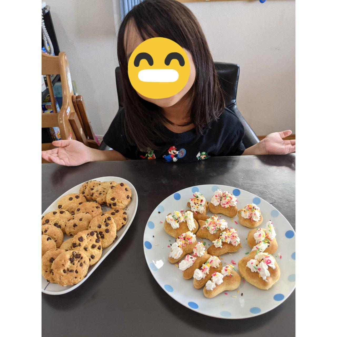 娘とのクッキーづくり♪の画像