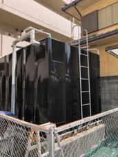 貯水槽塗装の画像