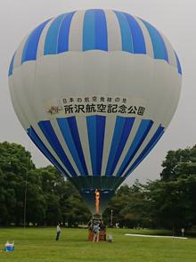 所沢航空記念公園に気球⁉の画像