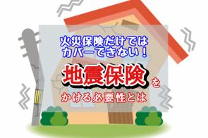 火災保険だけではカバーできない!地震保険をかける必要性とはの画像