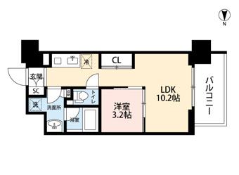北区の1LDKのお部屋!の画像