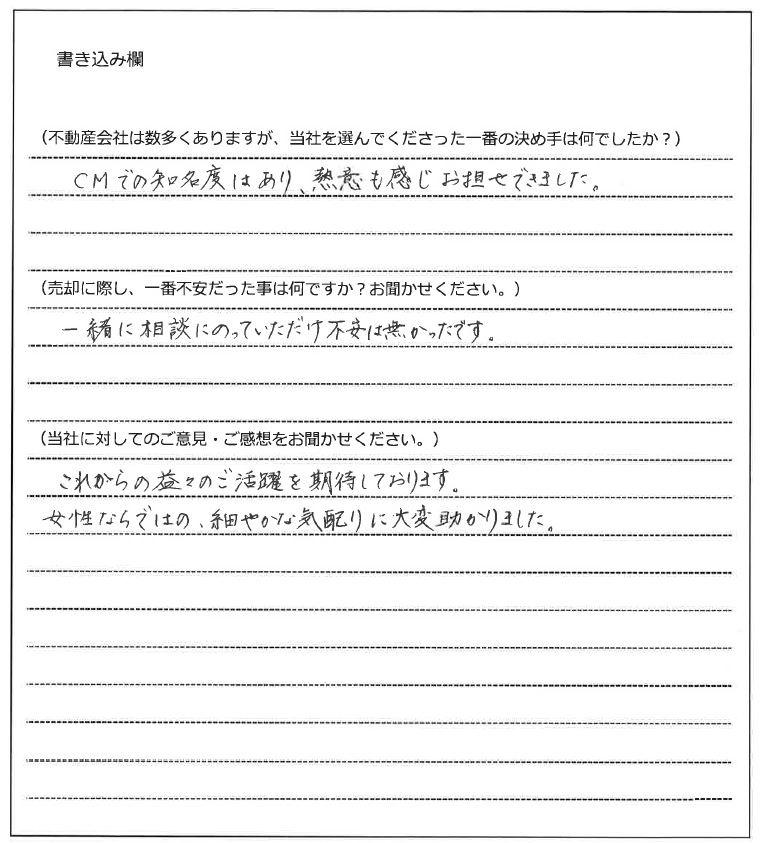 真田 由美様(仮名)【売却】の画像