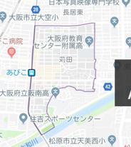 大阪府大阪市住吉区苅田近辺の画像
