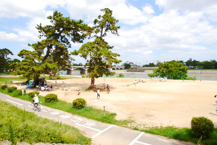 武庫川河川敷の画像