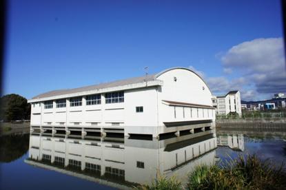 池に浮遊する体育館‥の画像1
