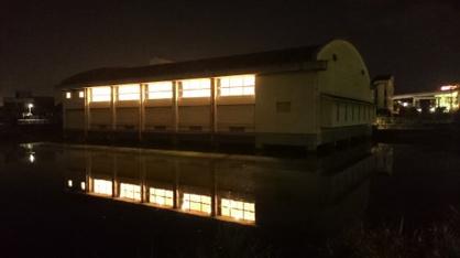 池に浮遊する体育館‥の画像5