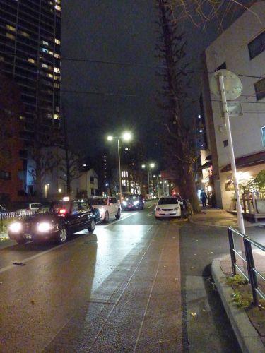 夜のプラチナ通りの画像