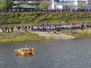 鹿島流し 会場 丸子川河川敷の画像1